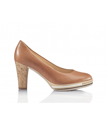 Escarpins marron en cuir
