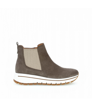 Bottiness Chelsea taupes en suede