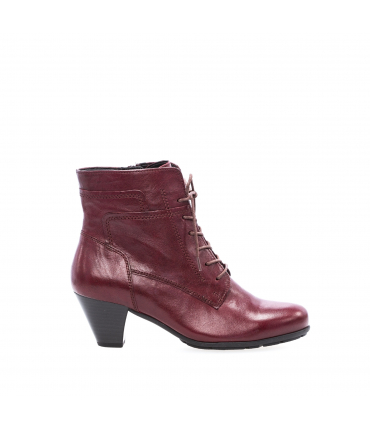 Bottines rouges à talon