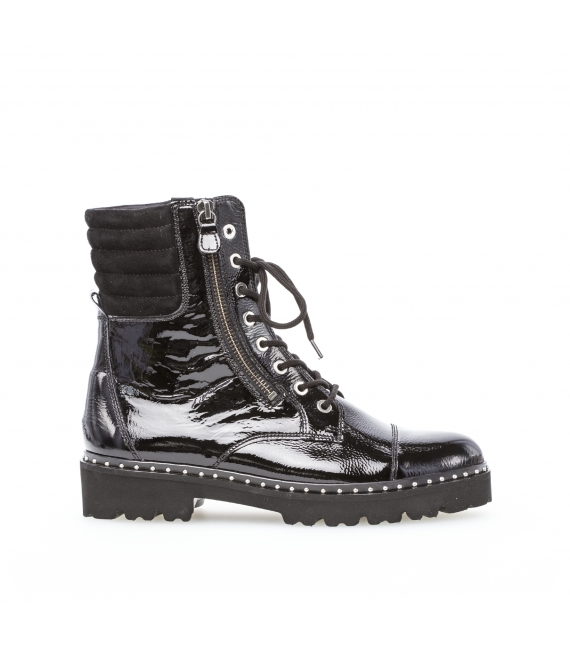 Bottines biker noires