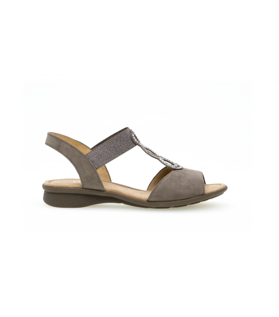 Sandales confort taupe