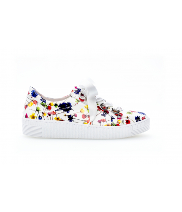 Sneakers blanches / multicolore