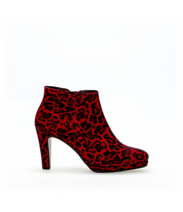 Bottines modernes rouges