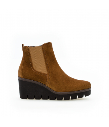 Bottines mode cognac