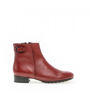 Bottines confort rouges