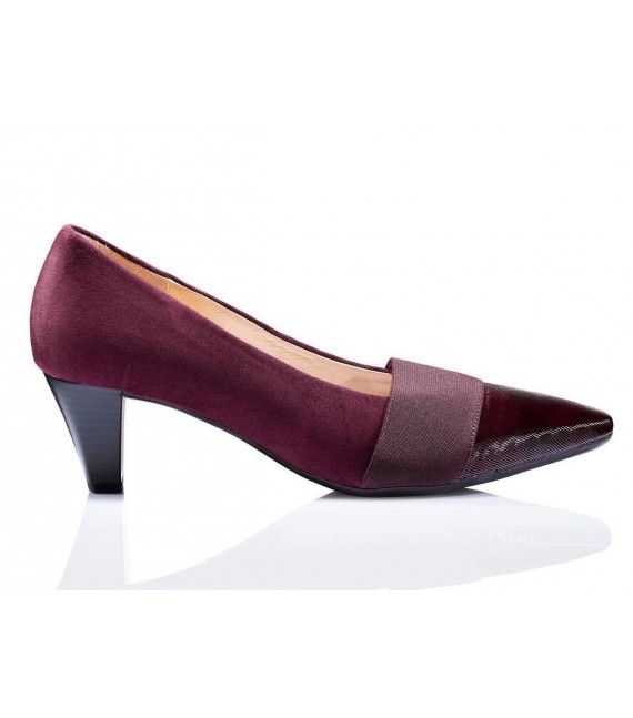 Escarpins bordeaux en velours