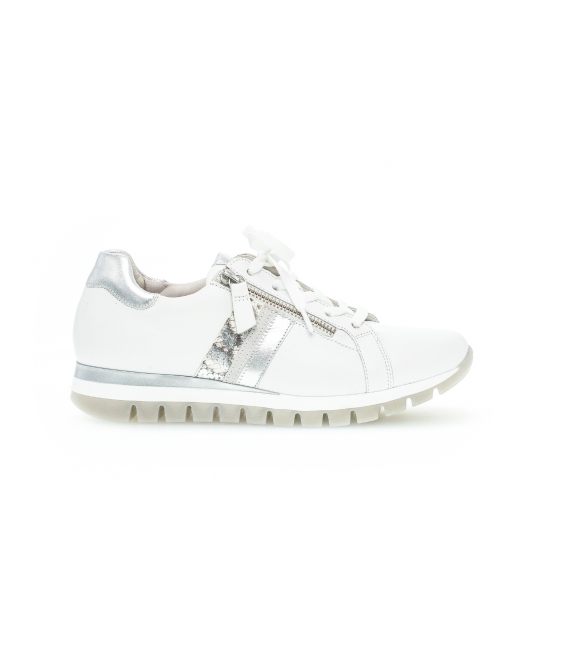 Baskets blanches cuir lisse