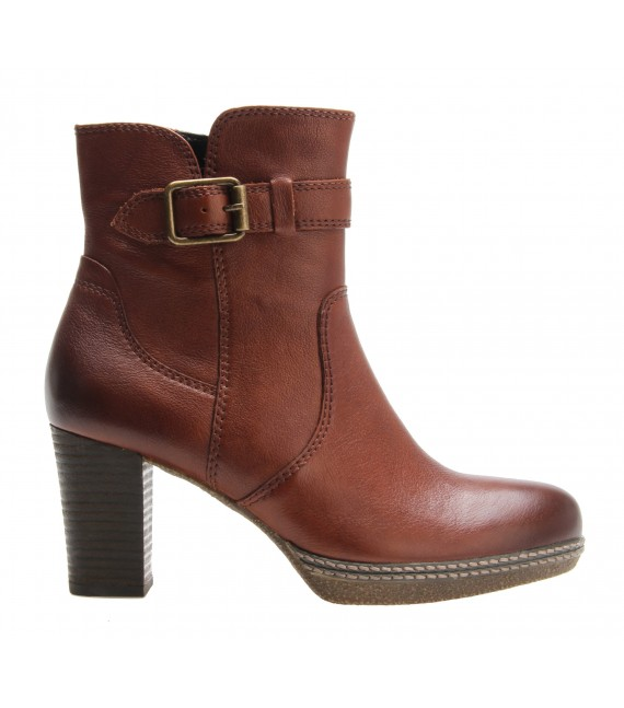 Bottines marron à talon