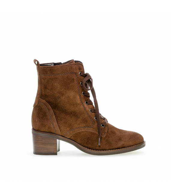 Bottines velours marron