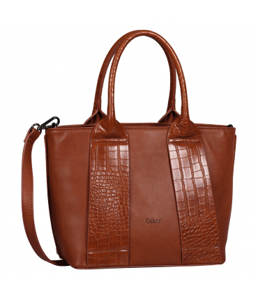 Sac shopping RUNA croco cognac