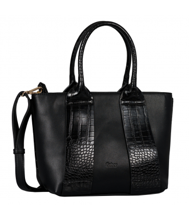 Sac shopping RUNA croco black