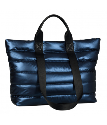 Sac shopping HANNA metallic blue