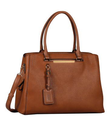 Sac shopping LORA cognac