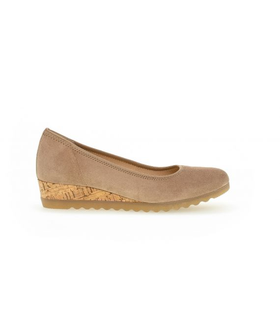 Ballerines sable en suede