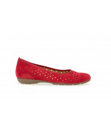 Ballerines rouges en suede