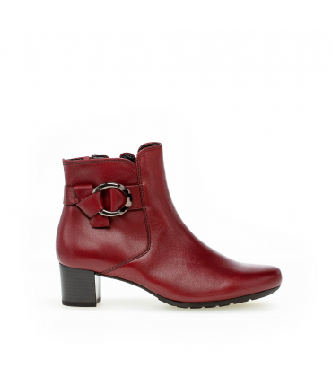 Bottines rougees en synthétique